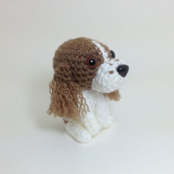 English Springer Spaniel Amigurumi Dog Handmade Crochet Puppy Stuffed Animal Plush Doll / Made to Order