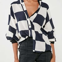 Cooperative Bonjour Checkered Button-Down Shirt | Urban Outfitters