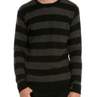 RUDE Tonal Stripe Pullover Sweater