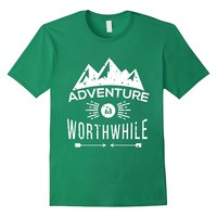 Adventure Is Worthwhile Mountain Shirt Hiking Lover Gifts