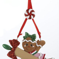 Christmas Ornament - Gingerbread Girl And Rolling Pin