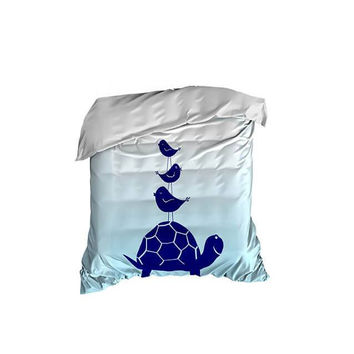 Turtle and Little Birdies Crib Comforter