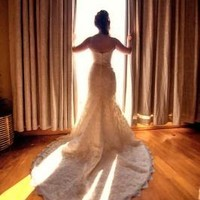 Petite Sweetheart Beaded Lace Trumpet Gown - David's Bridal