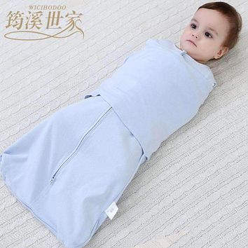Baby Sleeping Bags 66Cm New Hot Soft Cotton Gauze Newborn Cocoon Sleepsacks Envelope Infant Baby Anti-startle Wrapped Cloth