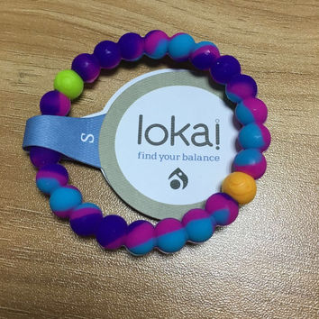 New Arrival Where dreams come true Lokai Bracelet  (blue and purple )