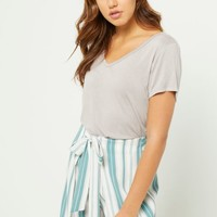 Gray Favorite Relaxed Fit Tee
