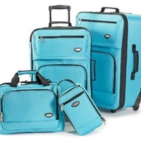 Hercules Jetlite 4-pc. Seafoam Upright Luggage Set