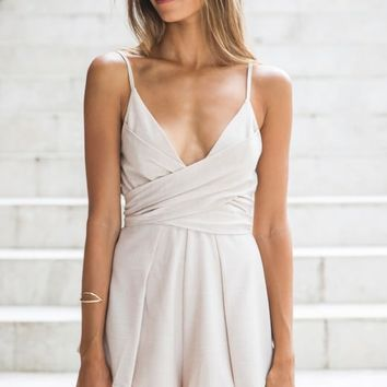 Cruz Romper Beige - New Arrivals