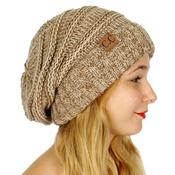 C.C. Beanie - Taupe - Slouchy