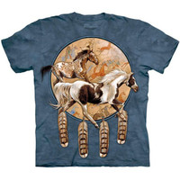 SOQUILI SHIELD The Mountain Native American Horse DreamCatcher T-Shirt S-3XL NEW