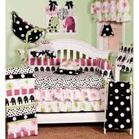 Cotton Tale Hottsie Dottsie 8-piece Crib Bedding Set