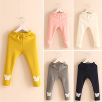Free shipping, Girls Clothing,winter pants,Baby Pants,baby girl leggings,lace butterfly Thick pants Cartoon printing