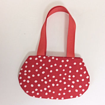 Red Polka Dot Purse, Doll Purse, Polka Dot Purse for 18 Inch Dolls such as American Girl Dolls