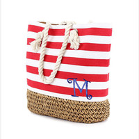 Monogram large beach bag