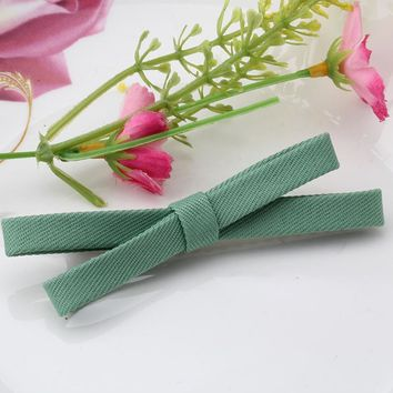 M MISM Women Simple Stylish Hair Accessories Hairpins Adult Girls Headwear Barrettes Hair Clip Solid Color Bow Tie Hairclips