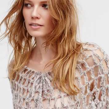 Free People Heart & Soul Hand Knit Poncho