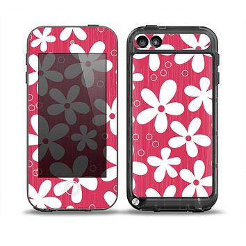 The Hanging White Vector Floral Over Red Skin for the iPod Touch 5th Generation frē LifeProof Case