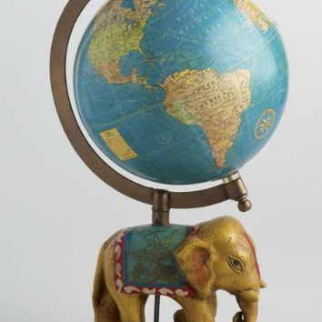 Painted Elephant Globe
