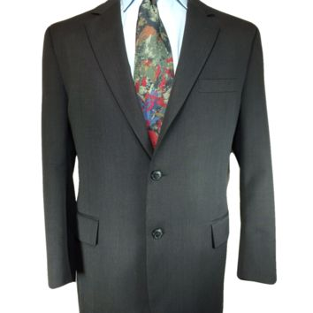 Joseph A. Bank Traveler's Two Button Sport Coat Black - 42R