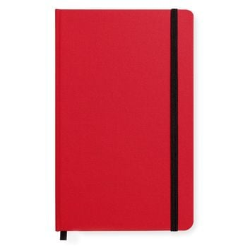 Medium Hard Cover Linen Lined Journal Deep Scarlet
