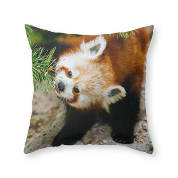 Society6 Little Red Panda Throw Pillow