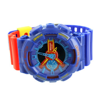 Sports Watch Blue Red Digital Analog Limited Edition Sale
