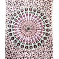 Twin Hippie Indian Tapestry Elephant Mandala Throw Wall Hanging Gypsy Bed 5485