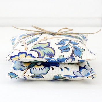 Blue Floral Lavender Sachets, Classic Provence, French Country Style