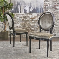 Camilla Traditional Grey New Velvet Dining Chairs (Set of 2)