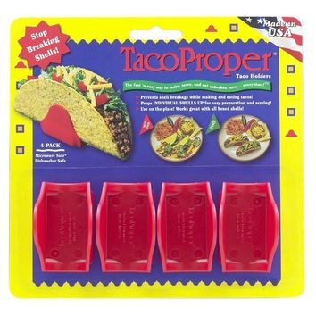 Taco Proper Shell Holders FiestaPak - 4 Shell Stands