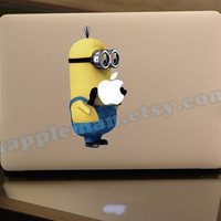 Despicable Me Minions  Mac Decal Macbook Stickers by xappleman