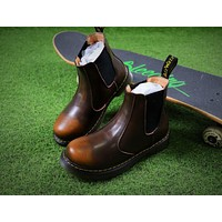 Newest Dr. Martens Brown Chelsea Boots 2976 Cashmere Inner