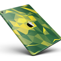 "Green and Yellow Geometric Shapes Full Body Skin for the iPad Pro (12.9"" or 9.7"" available)"