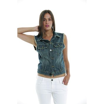 EM7108 Stone The Original Denim Vest
