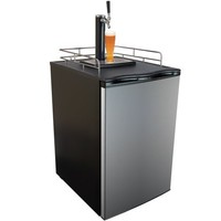 Keggermeister KM2800SS Kegerator Full-Size Single-Tap Beer Refrigerator and Dispenser, Stainless Steel