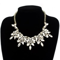 Fit&Wit Bling Rhinestone Crystal Layered Statement Fashion Elegant Necklace For Women