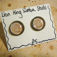 Simba/Wreck it Ralph Stud Earrings 2 by KawaiiCandyCouture on Etsy