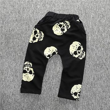 New children clothing girls pants for boys ,kids clothes cartoon pants baby bloomers skull pant