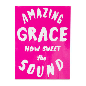 Amazing Grace Pink Sticker