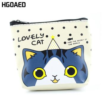 DCCKL3Z 1 pcs Cartoon cat pu Leather Zero wallet children lady zipper Wallet Pouch boy Change Pocket Pouch Bag Keys coin bag Coin Purse