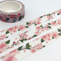 Peach blossom tape 10M pink flower washi tape blossom florist blossom flower sticker tape fancy flower planner gift diary scrapbook