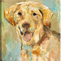 Tail-wagger Animal Canvas Wall Art Print by St. John