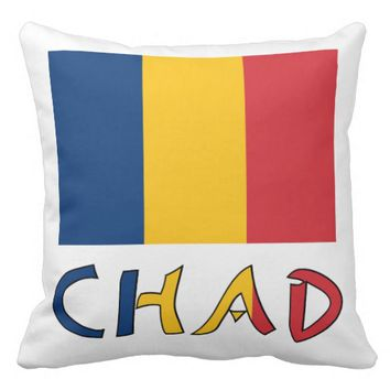 Chadian Flag and Chad Pillow