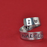 I Love Walkers Wrap Ring - The Walking Dead