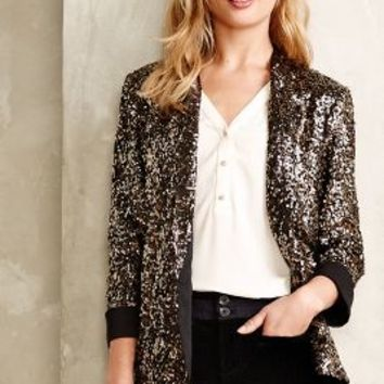 Sequined Blazer by Sam Edelman Black Motif