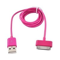 USB Sync & Charging Cable (Hot Pink) for Iphone apple
