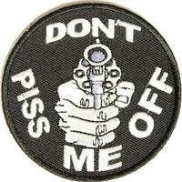 Don't piss me off with gun embroidered iron on patch