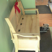 Deacon's Bench wooden unfinished pine