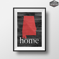 Alabama Print, State Wall Art, Home Print, Printable Wall Art, Alabama State Poster, Digital Poster Print, Alabama Wall Decor