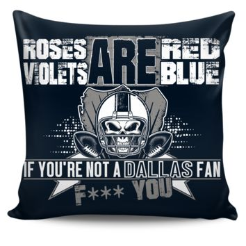 Roses are Red Dallas Pillow cover